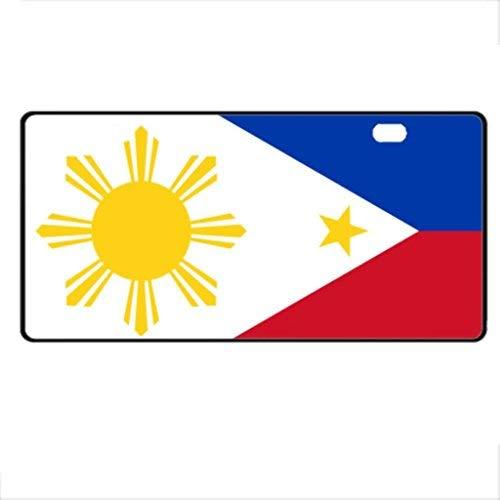 Dant454ty Vlag Van De Filipijnen Duurzame Front License Plaat Decoratieve Grappige Nieuwigheid Plaat Frame Cover Vanity Tag Unieke Geschenken voor Mannen Vrouwen