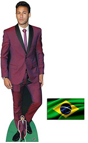 BundleZ-4-FanZ by Starstills Neymar Fußballer Lebensgrosse und klein Pappaufsteller mit 25cm x 20cm foto