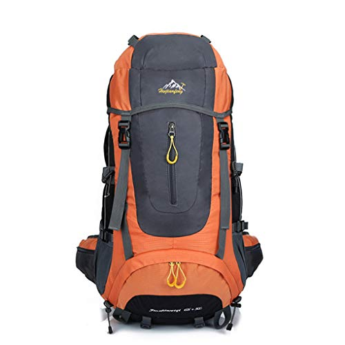 Gankmachine 56-75L Large Capacity Unisex Outdoor Camping Hiking Backpack Rucksack Adjustable Waterproof Travel Bags