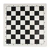 Andux Chess Game Tablero de ajedrez Enrollable XQQP-01 (Blanco y Negro, 35 * 35 cm)