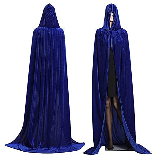 CYGGA Capa de bronce, unisex, para adultos, con cuello alto, para Halloween o fiestas, azul, M