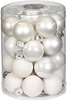16 pz Colore: Bianco Inge-glas 5112K012 Set di Palline di Natale