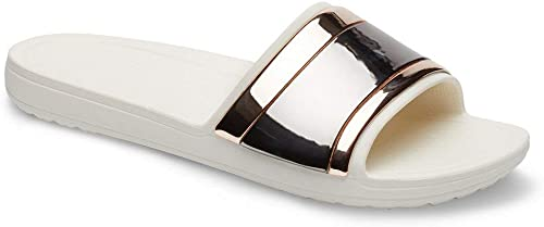 Crocs Sloane Metalblock Slide W, schuhe de Playa y Piscina para damen