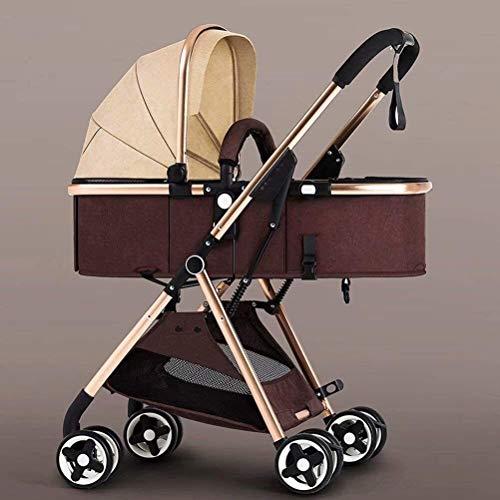 OESFL Cochecito de bebé Cochecito de viajes for el infante recién nacido del niño Ligera-cochecito de bebé plegable de dos vías Niños viaje Cochecito niño recién nacido Silla de paseo Buggy Caqui