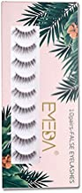 False Eyelashes Natural Look 10 Pairs 3D Fake Lashes Small Face Eyelashes 100% Handmade Lashes Wispies Short Soft Reusable Eye Lash Transparent Band Eyelash 1 Pack 005 Style Lashes by EMEDA
