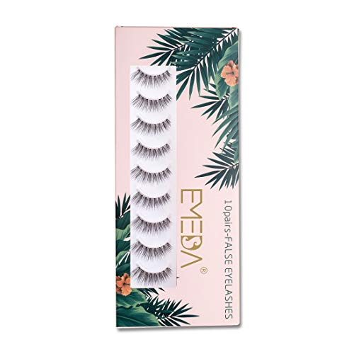 10 pairs Natural False eyelashes 3D Fake Lashes 100% Handmade Short Soft...