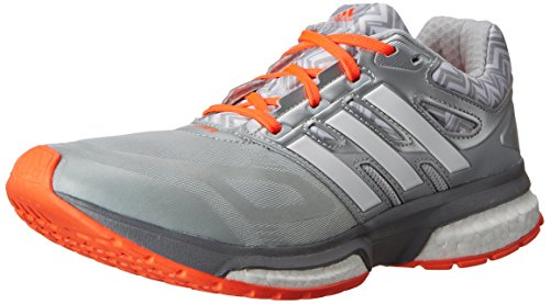 adidas Performance Women's Response Boost Techfit Running Shoe, White/Metallic Silver/Light Onix, 7 M US