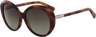 LONGCHAMP Women's Sunglasses Butterfly LCMP ROSEAU BLONDE HAVANA