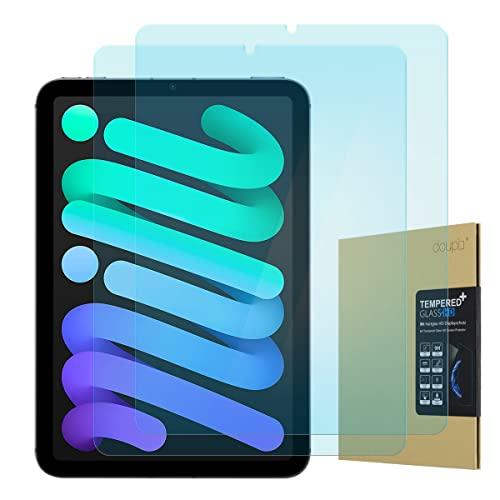 doupi Panzerfolie kompatibel mit iPad Mini 6. Gen. (8,3 Zoll) Modell 2021, Premium 9H Hartglas HD Display Schutz Glasfolie