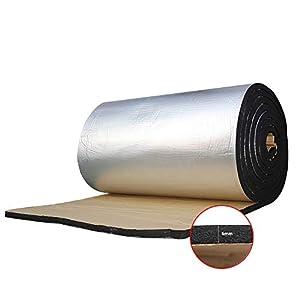 Panel de insonorización Guteauto de 1,4 metros cuadrados y 6 mm de grosor. Alfombrilla de aislamiento para amortiguar ruidos. Panel de espuma aislante sonoro de 140 x 100 cm