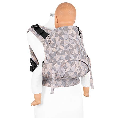 Fidella Fusion Toddler Tuchtrage Full Buckle I Bauchtrage & Rückentrage I Ergonomische Komforttrage mit Steckschnallsystem I 100% Bio-Baumwolle I bis 30 kg I Rosé
