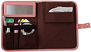 Arnest Portable Memo Pad Style Travel Standing Makeup Bag, Pink
