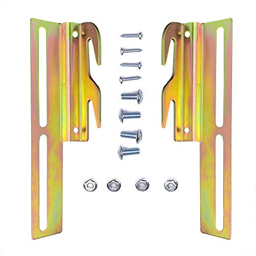 goodbabycare 2Pcs #711 Bolt-On to Hook-On Bed Frame Conversion Brackets with Hardware, Adjustable Bed Rail Hook Plate Adapter