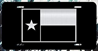 JMM Ind Texas Flag Vanity Novelty License Plate Tag Metal Lone Star State 12-Inches by 6-Inches Etched Aluminum UV Resistant ELP015