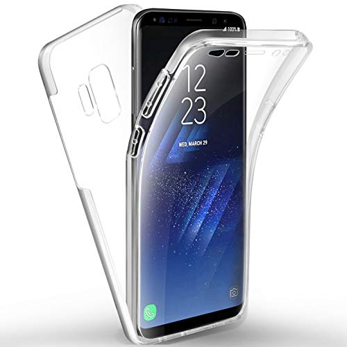 AROYI Samsung Galaxy S9 Hülle 360 Grad Handyhülle, Silikon Crystal Full Schutz Cover [ 2 in 1 Separat Hart PC Zurück + Weich TPU Vorderseite ] Vorne und Hinten Schutzhülle für Samsung Galaxy S9