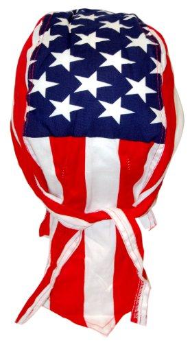 Bandana de motard rocker &casquette-drapeau américain