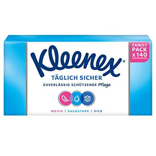 Kleenex Täglich Sicher Taschentücher, 3-lagig, Für den täglichen Gebrauch, 1 Packung à 140 Tücher
