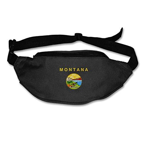 Sac Banane Sac à la Taille Drapeau du Montana Bretelles Réglables Ceinture de Course Poche d'entraînement