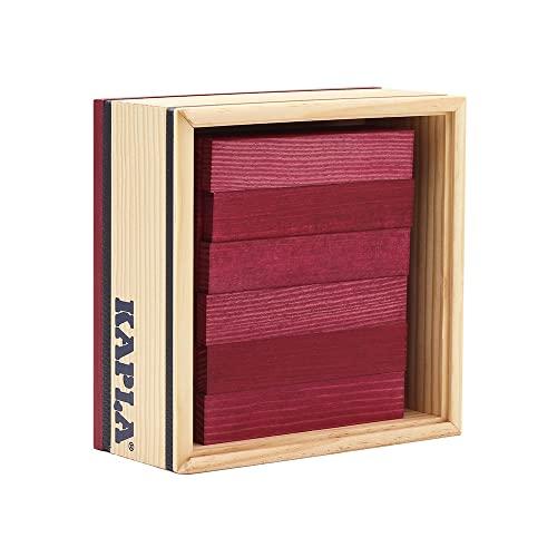 Kapla 9000160 Holzplättchen 40-teilig in Box, violett - 4