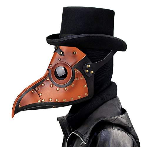 Leshi Shop Plague Doctor Mask, Pestmaske Plague Doctor Kostüm Halloween Kostüm Damen Halloween Mask