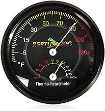 REPTI ZOO Reptile Terrarium Thermometer Hygrometer Dual Gauges Pet Rearing Box Reptile Thermometer and Humidity Gauge