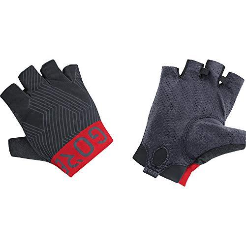 GORE Wear C7 Unisex Pro Kurzfingerhandschuhe, 5, Schwarz/Rot