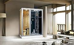 Trade-Line-Partner Douche à vapeur 170×100 cm avec sauna + équipement complet