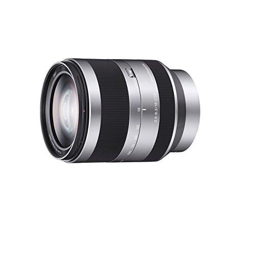 Sony SEL-18200 Zoom-Objektiv (18-200 mm, F3.5-6.3, OSS, APS-C, geeignet für A6000, A5100, A5000 und Nex Serien, E-Mount) silber