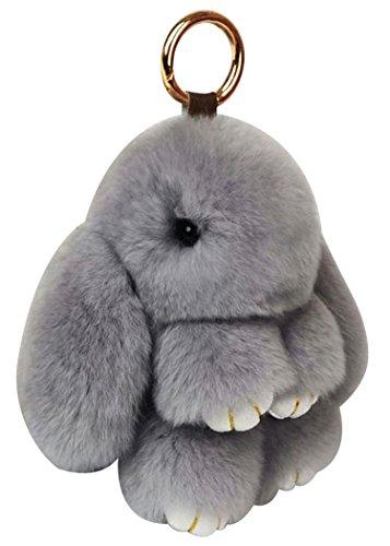 Konijn Bont Sleutelhanger, Funpa Bunny Sleutelhanger Creatieve Fluffy Sleutelhanger Bunny Pop Sleutelhanger voor Pasen met Doos