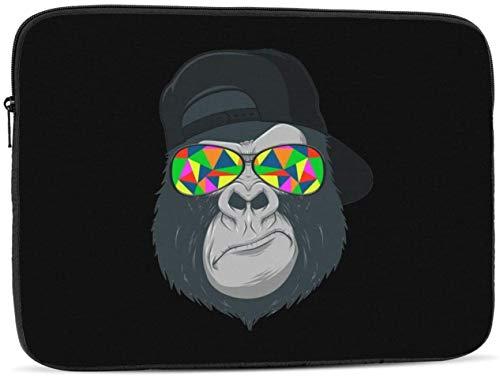 Gorilla Rastafarian Laptop-Ärmeltasche Kompatibel mit 10-17 Zoll Classic Computer Bag Laptop-Tasche-Affe mit Brille , 10inch
