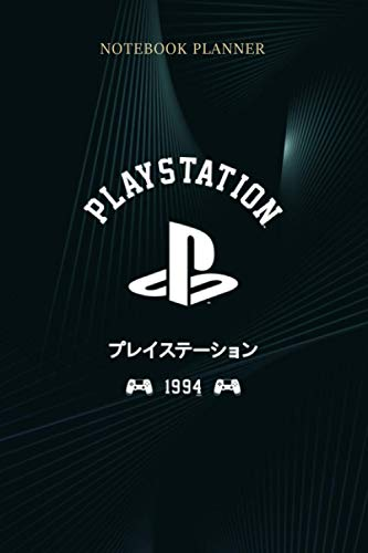 Notebook Planner Playstation 1 Color Text Logo Kanji: 114 Pages, Budget, 6x9 inch, Meal, Business, Lesson, Journal, Menu