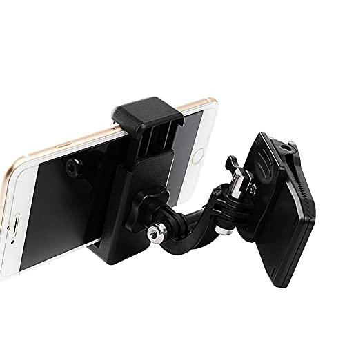 Zainetto Tracolla Supporto Per Action Camera, Universale, Girevole A 360 Gradi, Compatibile Con Go-Pro, DJI, La Maggior Parte Dei Telefoni E Action Camera (Camera Clip+Adapter+Phone clip)