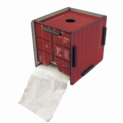 Werkhaus - Toilettenpapierhalter in Container-Optik, Rot (CO1202)