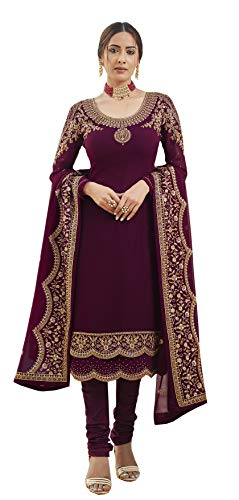 RUDRAPRAYAG anarkali georgette and santoon straight suits for women | anarkali suit for women readymade | gown for women semi-stitched | gown for women 2021 | anarkali salwar suit | gown in Clothing & Accessories
