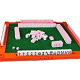 KNDJSPR Mini Mahjong Traditional Chinese Version Game Set Portable, Retro Nostalgic, Suitable for Home, Dormitory, Hotel, High-Speed Rail, Outdoor Tourism