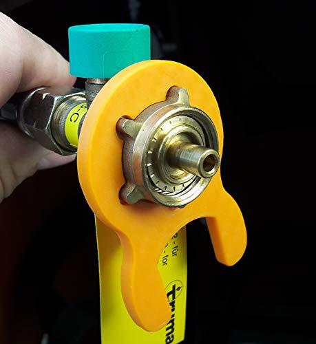 Gasschlüssel für Gasregler Druckminderer 5kg 11kg Wohnmobil Caravan Garten Grill Gasgrill (Orange)