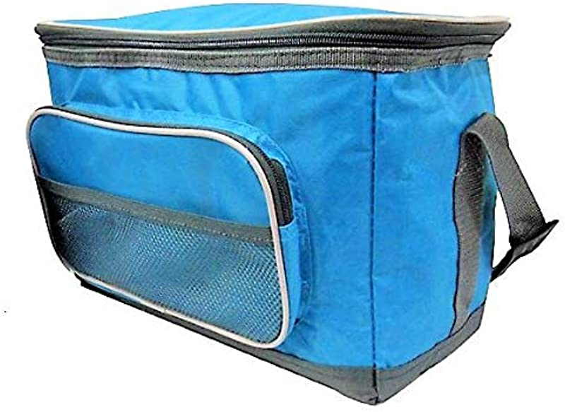 Lunch Bag Boxes Collapsible Soft Cooler Bag Insulated Picnic Lunch Boxes Red Purple Green Blue Blue 15CAN 12L