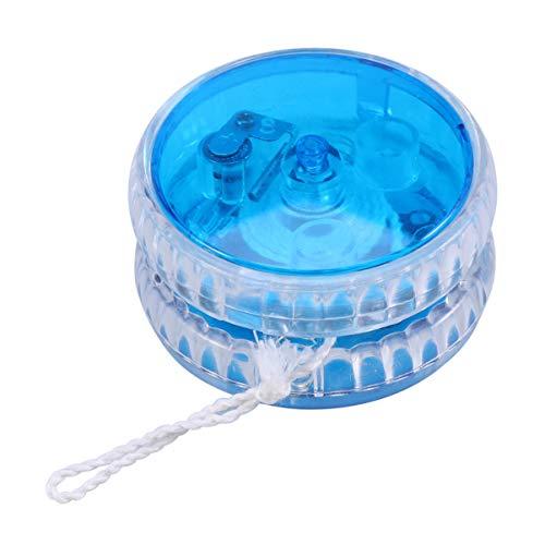 Toddmomy LED-Jojo-Ball, leuchtet im Dunkeln, langlebiger Kunststoff, Yoyo für Anfänger und Kinder, mit Jojo-Saiten, Geburtstagsparty-Geschenke, Blau