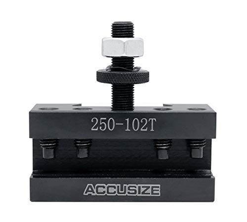 Accusize Industrial Tools Style Axa Boring, Turning and Facing Quick Change Tool Post Holder for 5/8'' Turning Tools, Style 2 Ex-Large, 0250-0102T