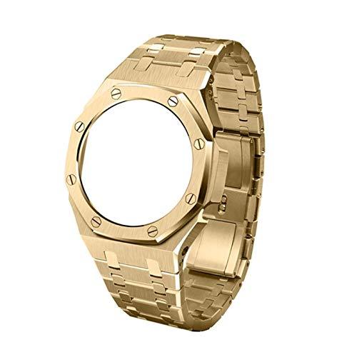 LGFCOK GA2100 - Cinturino in metallo GA2110 per orologio Casio G Shock GA-2100 da uomo, accessori di ricambio (colore cinturino: oro)