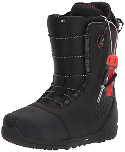 Burton Ion Snowboard Boots Mens Sz 10 Black/Red