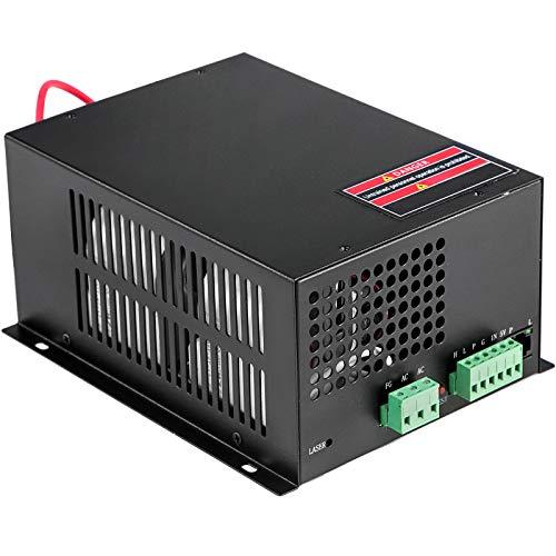 VEVOR Laser Power Supply 60W Co2 Laser Engraver Power Supply 110V Laser Tube Power Supply for Laser Cutter Engraving Machine(60W)