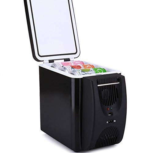 MiduoHu Neveras De Viaje para Coche, Refrigerador de 6 litros for Autos con refrigerador y Calentador, Caja portátil for refrigerar, refrigerador eléctrico, Mini congelador for Autos de Viaje, 12V