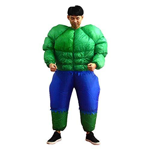 YBBDHD Disfraz De Hulk Inflable Fiesta De Bar para Adultos Parodia Disfraz Disfraz Disfraz Traje Fiesta De Halloween Carnaval Cosplay Disfraces Accesorios