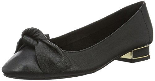 Buffalo London Damen 216-1415-4 Sheep Leather Geschlossene Ballerinas, Schwarz (Black 01), 36 EU