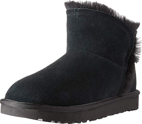 UGG Damen W Classic Mini Fluff HIGH-Low Stiefeletten, Schwarz (Black Blk), 39 EU