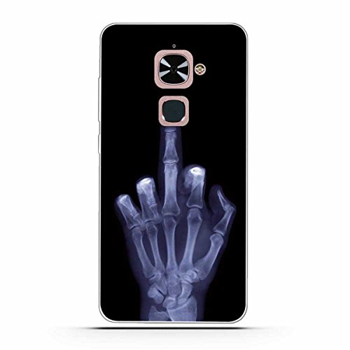 Le Max 2 Hülle, LeEco Le Max 2 Hülle,Gift_Source [Mittelfinger] Weicher Flexibel Klar Transparent Gel Silikon TPU Hülle Superdünn Stoßfest Tasche Handy-Kasten für LeEco Le Max 2 / Le X820 (5.7 inch)