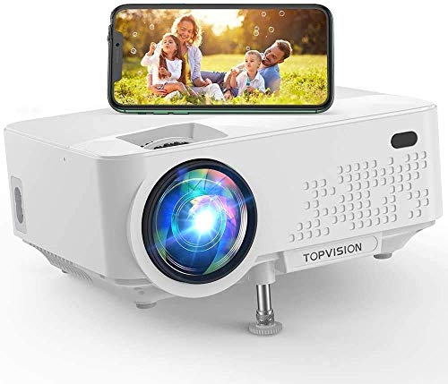 Projector, 5,500 LM, WiFi Connection, Direct Connect to Smartphone, Small Home Projector, Supports 1080P Full HD, Built-in Speaker, Keystone Correction HDMI/USB/VGA/TF/AV/PC/Tablet/PS3/PS4 Game Console/DVD Player, HDMI Cable, AV Curble/Remote Control, Japanese Instruction Manual (English Language Not Guaranteed)