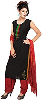 Women's Readymade Pure Slub Silk Salwar Suit with Dupatta