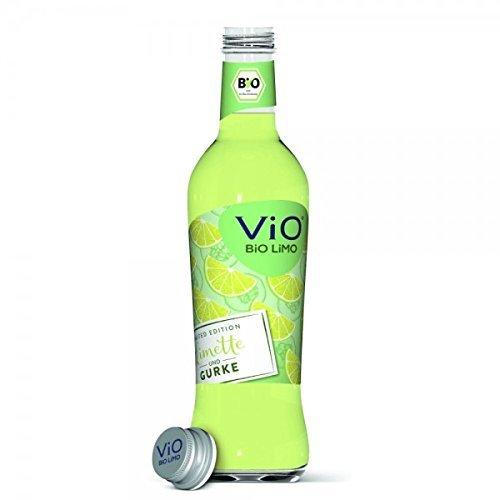 24 Flaschen a 300ml Vio Bio Gurke Limette inclusive 3.60€ MEHRWEG Pfand Glas